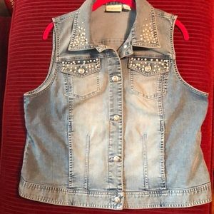 Chico's Blue Jean Vest. EUC.